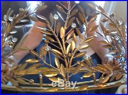1 Pottery Barn Kids Monique Lhuillier Gold Vine Cornice & 1 sets tulle Sheers