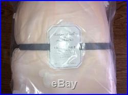 $169 POTTERY BARN KIDS Monique Lhuillier Blush Pink Bed Skirt FULL