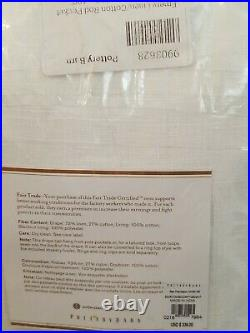2 NEW Pottery Barn Emery Blackout Drape 100 x 108 White Linen/Cotton Rod Pocket
