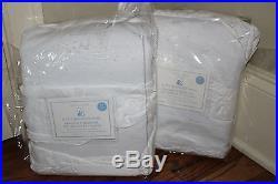 2 NWT Pottery Barn Kids Allover Ruffle blackout drape panels 44x63 white