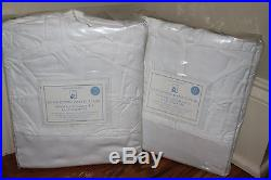 2 NWT Pottery Barn Kids Ruffle bottom blackout drape panels 44x63 white