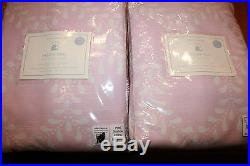 2 New Pottery Barn Kids Evelyn Vine Blackout Pink Curtains Drapes Panels 63 NWT