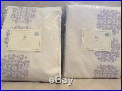 2 New Pottery Barn Kids Mia Blackout Lined Curtains Panels Drapes 44x84 Lavender