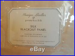 2 New Pottery Barn Kids Monique Lhuillier Silk Blackout Panels Drapes Blush Pink