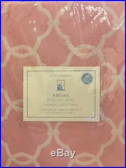 2pc Pottery Barn KIDS ABIGAIL BLACKOUT PANEL Drapes Curtain Pink 44X96