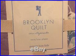 2pc Pottery Barn Kids Brooklyn Quilt Euro Sham Set Purple Twin New Lavender