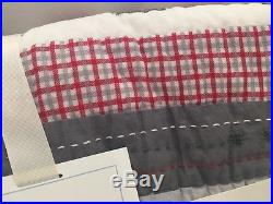 2pc Pottery Barn Kids Crib Toddler North Pole Quilt Fitted Sheet Christmas Santa