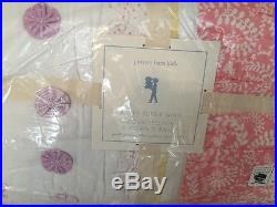 3pc Pottery Barn Kids Bailey Quilt & Standard Shams Full/Queen Coral NWT