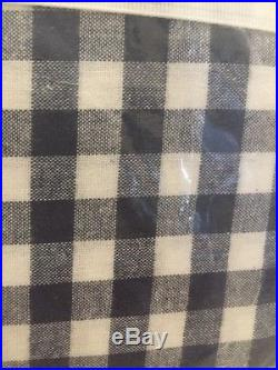 3pc Pottery Barn Kids Teen Buffalo Check Flannel Full/Queen Duvet Shams Navy New