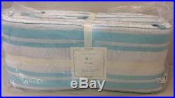 4P Pottery Barn Kids Baby Aqua HARPER Clover Crib Quilt Bumper Sheet Bed Skirt