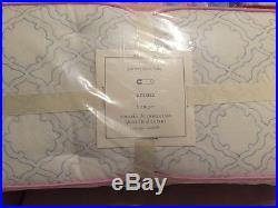 4pc Pottery Barn Kids Baby Floral EMMA Crib Quilt/Bumper/Sheet/Skirt Set