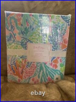 4pc Pottery Barn Kids Lilly Pulitzer Mermaids Cove Full Sheet Set Sheets New