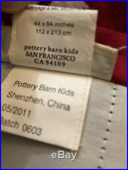 5 Pottery Barn Kids Red Stars Blackout Panels 44 x 84 Curtains RARE