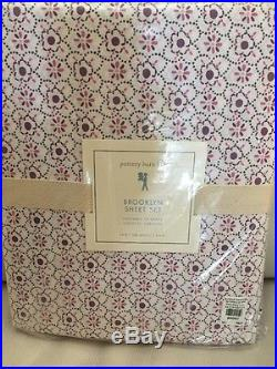 5pc Pottery Barn Kids Brooklyn Quilt Euro Sham Sheet Set Purple Twin Lavender