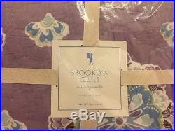 5pc Pottery Barn Kids Brooklyn Quilt Euro Sham Sheet Set