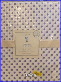 6pc Pottery Barn Kids Tory Twin Quilt Standard & Lumbar Shams Sheet Set Lavender