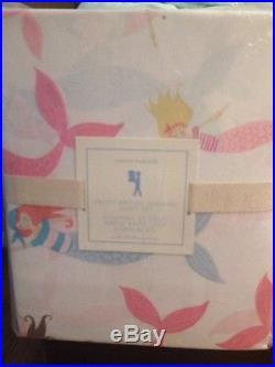 7pc POTTERY BARN KIDS Audrey Quilt Std Shams Mermaid Sheets Full Aqua