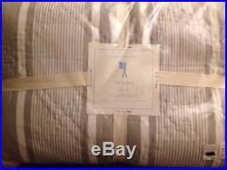 7pc Pottery Barn Kids Gray JACKSON Stripe Quilt Std Shams Easton Boat Sheet FULL