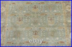 8' x 10' Pottery Barn Brandon Rug Porcelain Blue New Hand Tufted Wool Carpet