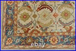 8' x 10' Pottery Barn Eva Rug New Hand Tufted Wool Ivory Blue Carpet