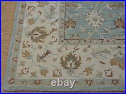 8' x 10' Pottery Barn Malika Rug Blue New Hand Tufted Wool Carpet