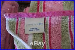 Cute Pottery Barn Kids Bathroom Hamper Shower Curtain Wall Striped Towels Set
