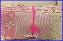 EUC/NWT Pottery Barn Kids 5Pc GIRL'S KEY WEST Quilt BUMPER Crib Skirt SHEET+