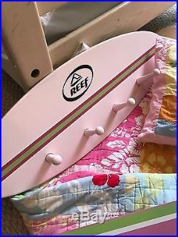 HUGE LOT Pottery Barn Kids Full Island Surf Hawaiian Bedding Set & Decor Lot
