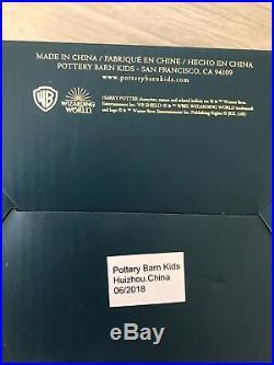 Harry Potter PB Teen Pottery Barn Kids NEW Hogwarts Keepsake Box Blue Gold Stars