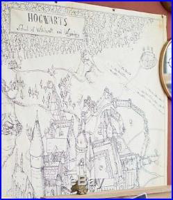 Harry Potter Pottery Barn Kids New NWT Marauders Map Hogwarts Castle Canvas Art