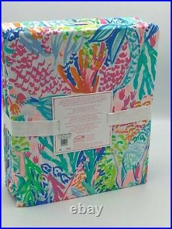 Lilly Pulitzer Mermaid Cove Organic Full Sheet Set Pottery Barn Kids