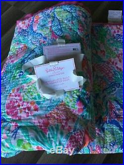 Lilly Pulitzer Pottery Barn Kids Mermaid Cove Quilt Twin