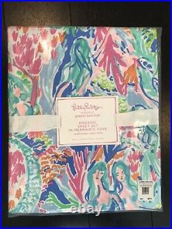 Lilly Pulitzer Pottery Barn Mermaids Cove Full Size Sheet Set. NWT