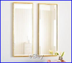 Long Gold Panel Mirror, Set of 2 Pottery Barn kids Gold leaf Antique look, 32H