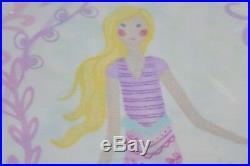 NEW 4 pcs SET Pottery Barn Kids BAILEY Full Queen SHEET SET + 2 CASE S Mermaid