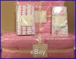 NWT Pottery Barn Kids Dahlia pink nursery small sham crib