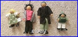 NEW Farmington Pottery Barn Kids Dollhouse & Family of Four Dolls