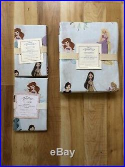 NEW POTTERY BARN KIDS DISNEY PRINCESS DUVET COVER FULL QUEEN 2 Standard SHAMS