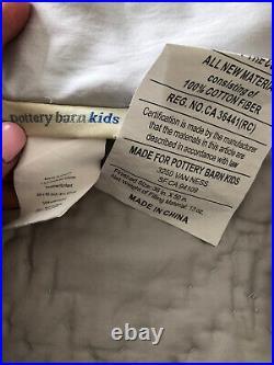NEW Pottery Barn KIDS BABY Washed Velvet Gray Crib Quilt Skirt Sham 3 Pc Set