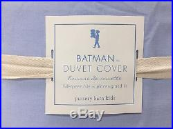 NEW Pottery Barn KIDS Batman Vintage FULL/QUEEN Duvet Cover with2 STANDARD Shams