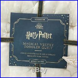 NEW Pottery Barn KIDS Harry Potter Magical Velvet Toddler Crib Quilt
