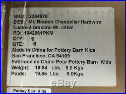 NEW Pottery Barn KIDS Monique Lhuillier Branch ChandelierBrassHTF