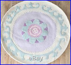 NEW Pottery Barn Kids 5x5 ROUND Rug Leah Lavender