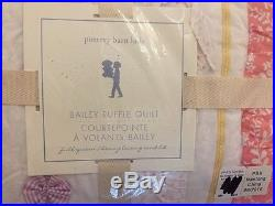 NEW Pottery Barn Kids Bailey Full/Queen Quilt Coral Lavender
