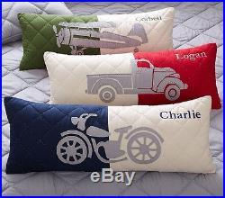 NEW Pottery Barn Kids CHARLIE Full or Queen Quilt /Sham/Sheet 8p BL/GR Plaid