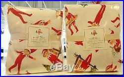 NEW Pottery Barn Kids Christmas Elf on the Shelf Queen Duvet & Flannel Sheet Set