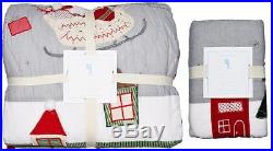 NEW Pottery Barn Kids Full Queen North Pole Quilt Christmas + Cotton Pillow Sham