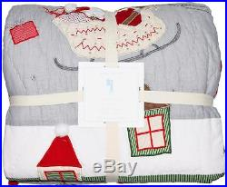 NEW Pottery Barn Kids Full Queen North Pole Quilt Christmas Holiday 86x86