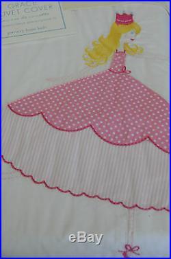 NEW Pottery Barn Kids GRACE Full Queen Duvet Princess Fairy Tale Shams 3pcs SET