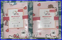 NEW Pottery Barn Kids Hello Kitty Full Queen Duvet Cover & Shams 3 Pieces NWT